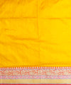 Yellow handloom silk banarasi saree