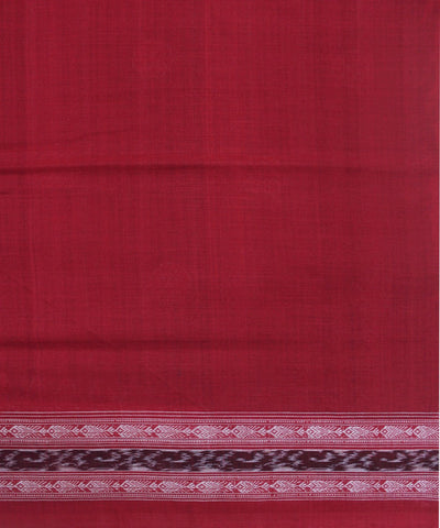 Handwoven Sambalpuri Ikat Cotton Saree in Black and Red