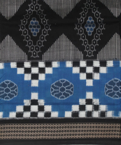 Blue Black Handloom Pasapalli Cotton Saree