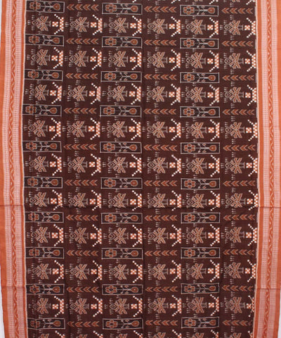 Walnut Brown Handloom Sambalpuri Cotton Saree