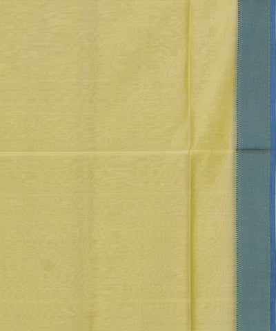 Maheshwari Handloom Cream Yellow Sico Saree