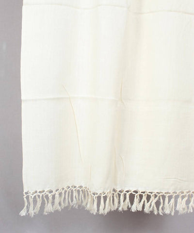 Handwoven Cotton Off white Stole