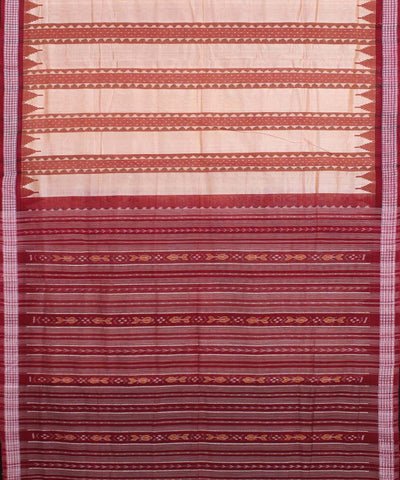 Brown Odisha Handwoven Bapta SICO Saree