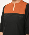 Cotton Black and Rust Top