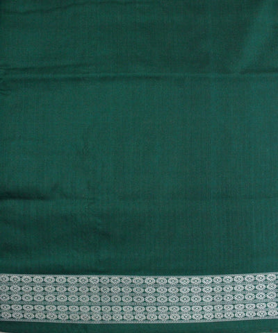 Handloom Bomkai Silk Saree Red Green
