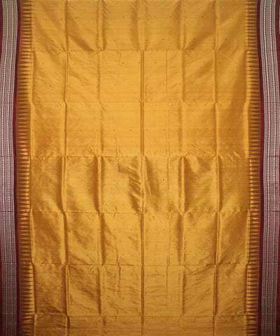 Handloom Bomkai Silk Saree Golden Maroon