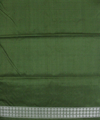 Handloom Bomkai Silk Saree Cream Green
