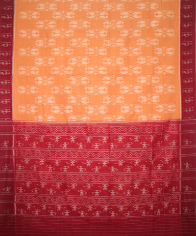 Handloom Nuapatna Cotton Saree Peru Maroon