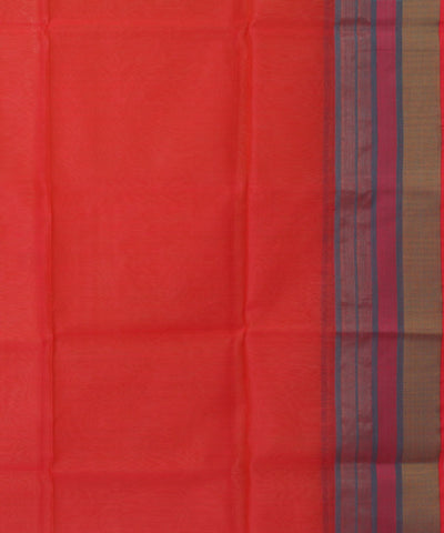 Handloom Orange Maheshwari Sico Saree