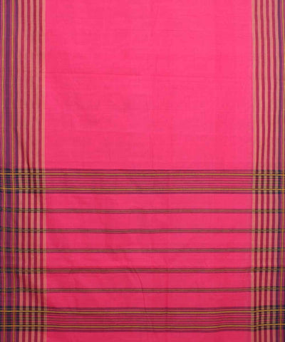 Pink Handloom Manamedu Cotton Saree