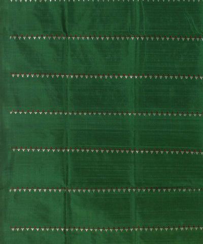 Yellow Red Green Handloom Bomkai Silk Saree