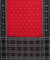 Red Black Handloom Sambalpuri Cotton Saree
