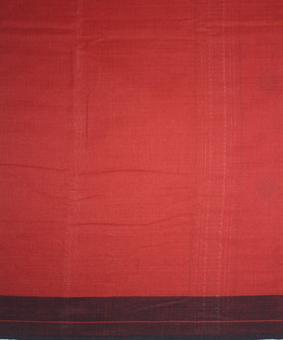 Kotpad Handloom Cotton Saree Rust Black