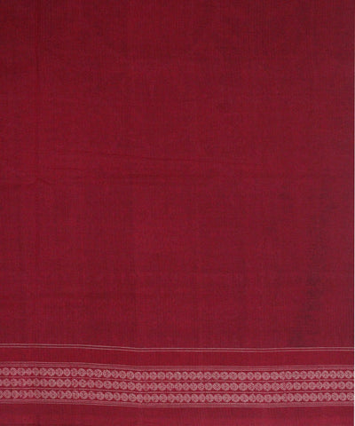Handwoven Sambalpuri Cotton Saree Blue Red