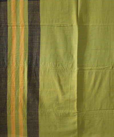 Pickle Green Handwoven Cotton Saree