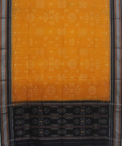 Handwoven Sambalpuri Dupatta in Yellow Black