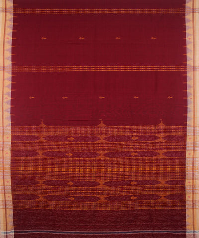 Kotpad Handloom Cotton Saree Maroon