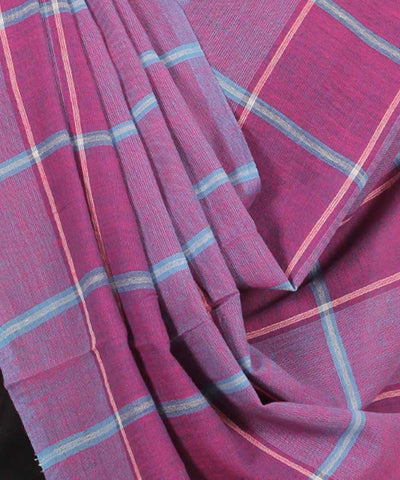 Handwoven Plum And Purple Cotton Dupatta