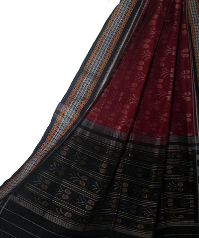 Mahogany and Black Handloom Dupatta