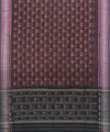 Mahogany and Black Handloom Cotton Dupatta