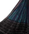 Pine Green and Black Handloom Cotton Dupatta