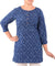 Navy Blue Bandhani Cotton Tunic