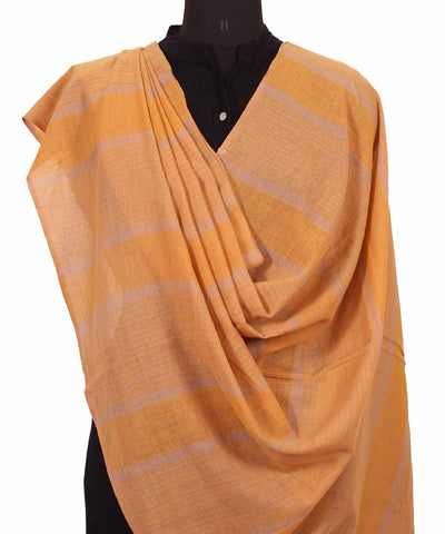 Handwoven Marigold Cotton Dupatta