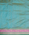 Banarasi Sky Blue Green Handloom Silk Saree