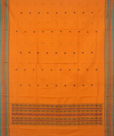 Dongaria Handloom Cotton Dupatta Yellow Green