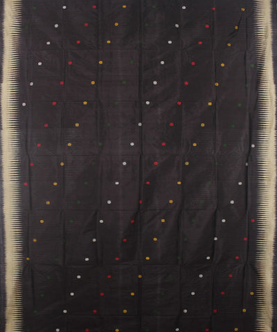 Black Handloom Bomkai Silk Saree