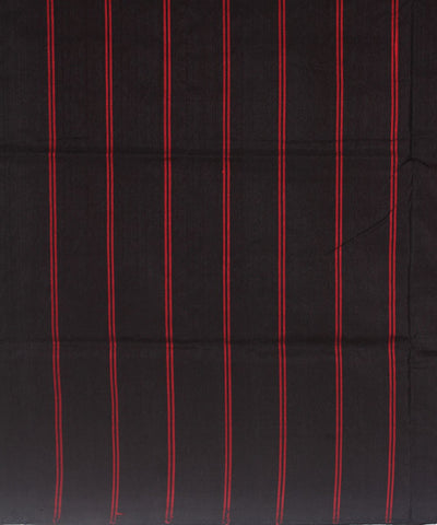 Handloom Traditional Bomkai Silk Saree Red Black
