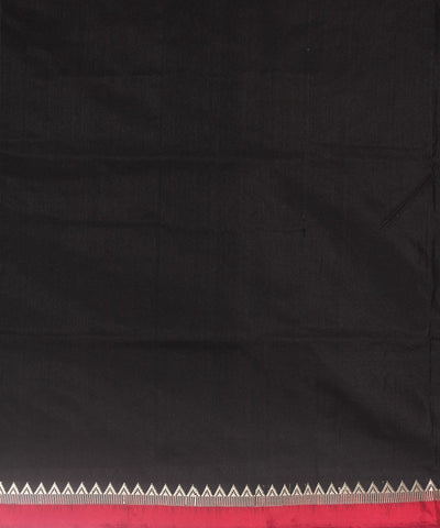 Handloom Traditional Bomkai Silk Saree Black
