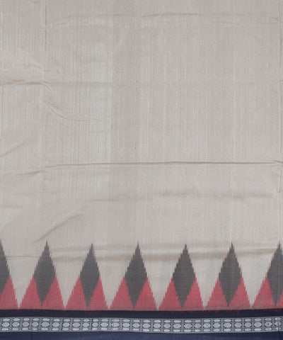 Handwoven Bomkai Silk Saree Vanilla Black