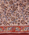 Block Printed Kalamkari Saree with Floral
