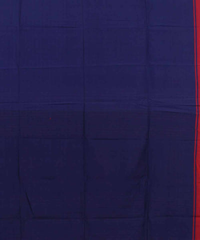 Bengal Handwoven Navy Violet Cotton Saree