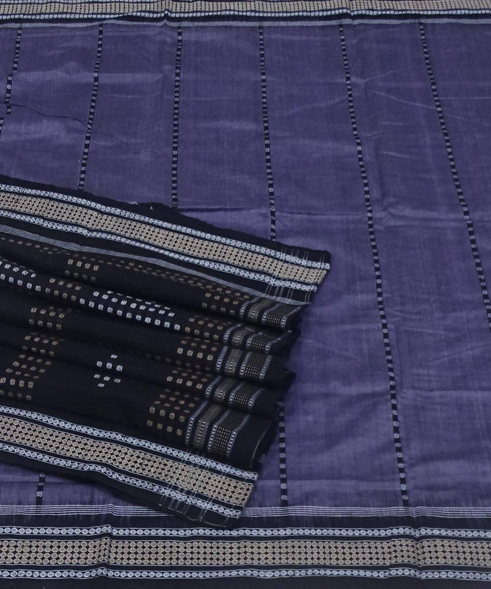 Handwoven lavender bomkai cotton saree