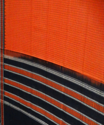 Orange Cotton Handloom Sambalpuri Dupatta
