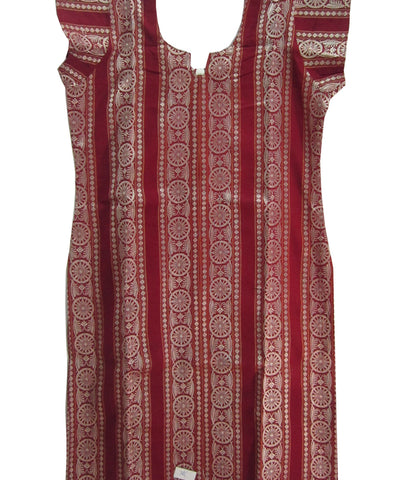 Red Traditional Cotton Kurti