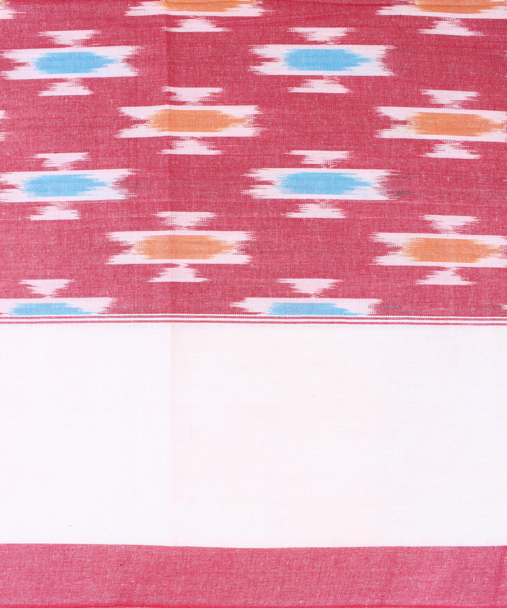 Handwoven Double Cot Bed Sheet in Pink