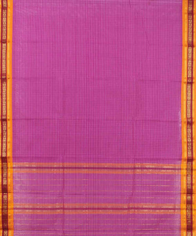 Pink Orange Handloom Narayanapet Cotton Saree