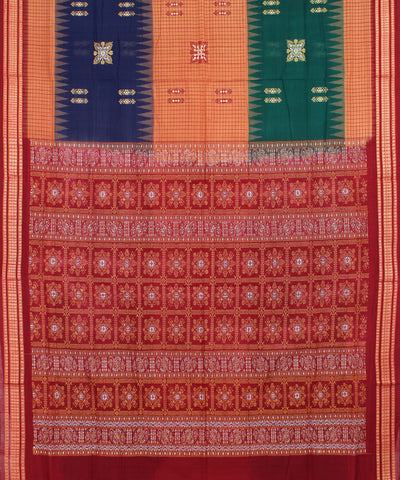 Multi Color Bomkai Handloom Cotton Saree