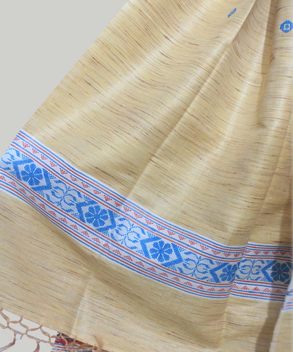 Light Golden Handloom Tussar Shawl