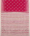 Magenta Off White Handwoven Bomkai Silk Saree