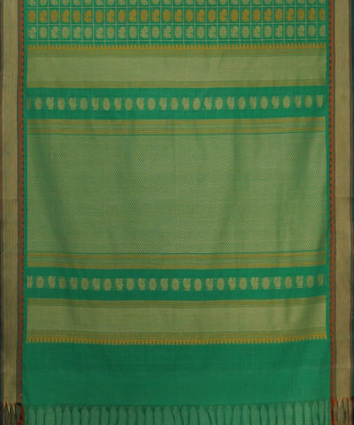 Thousand Butta Green Handwoven Kanchi Saree