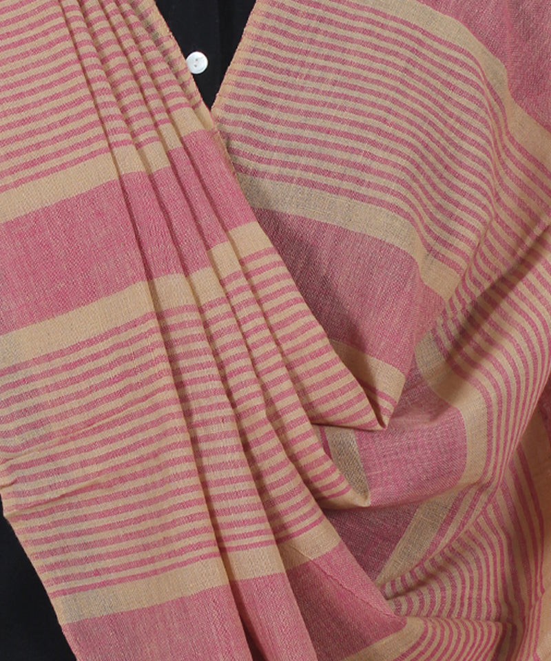 Macaroon And Rosewood Cotton Dupatta