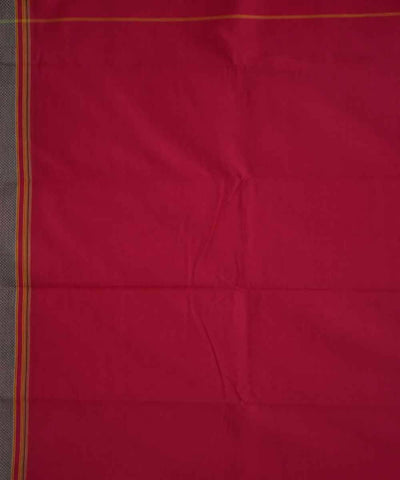 Rani Pink Solapur Handloom Cotton Saree