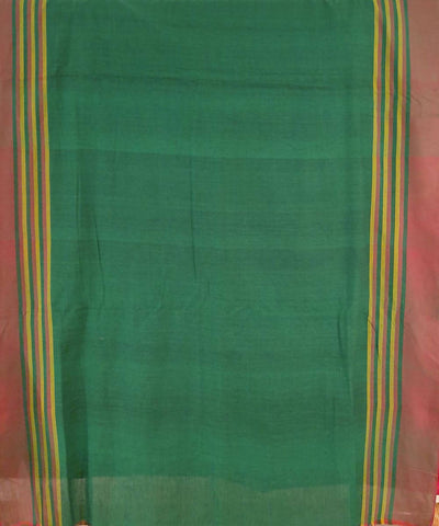 Maroon and blue assam handloom cotton saree
