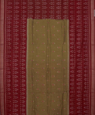 Mehendi Patli Cotton Handloom Saree