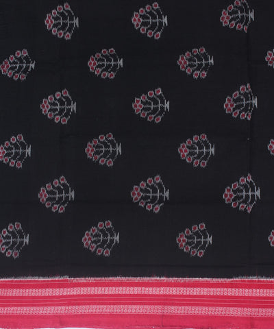 Handwoven Sambalpuri Dupatta Black Red