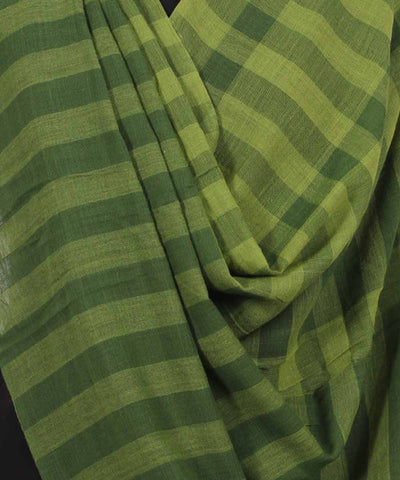 Handwoven Pickle And Juniper Cotton Dupatta